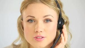 Female IT Help Desk Customer Support Representative